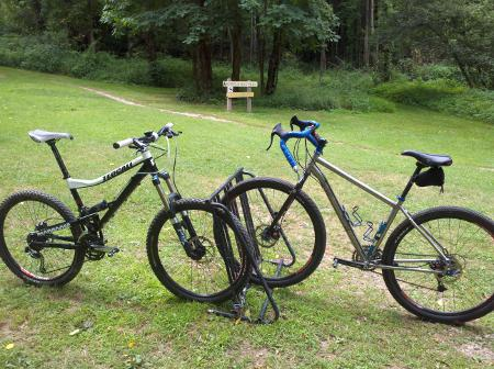 Mongoose Teocali Super and Salsa Fargo at Quail Hollow State Park