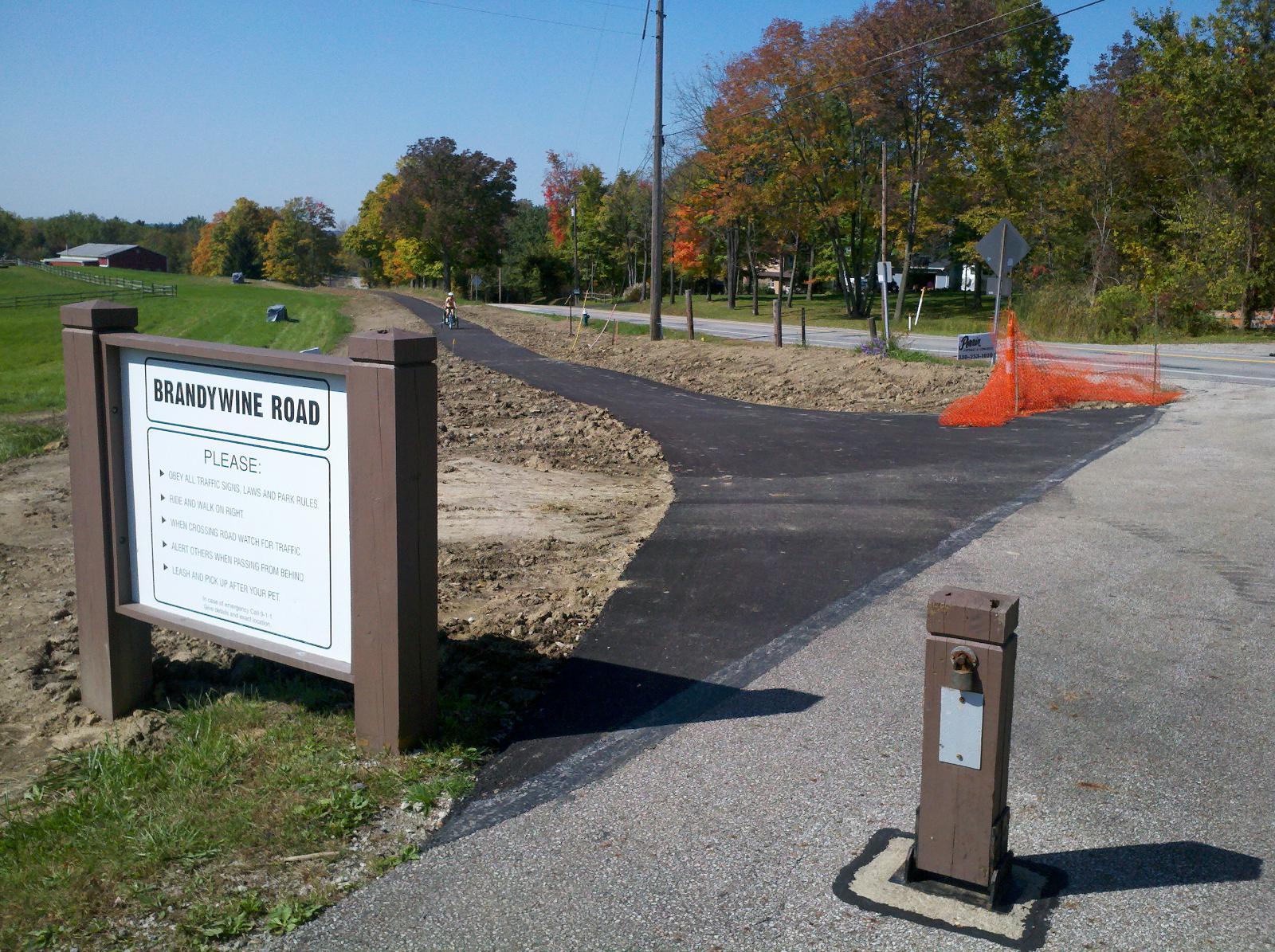 Progress On The Bike Hike Trail Brandywine Road Bypass Car Less Ohio