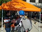 Sean Burkey of Raleigh Bicycles (National sponsor of the Bike MS rides) helps the National MS Society promote the Bike MS Pedal to the Point.