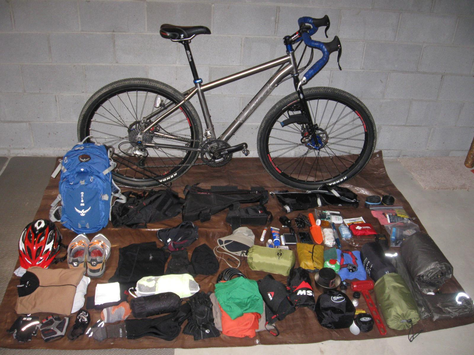 Bike Packing Gear List Version 1 0 Car Less Ohio