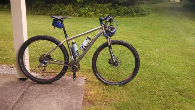 Salsa Fargo hardtail at Mohican State Park
