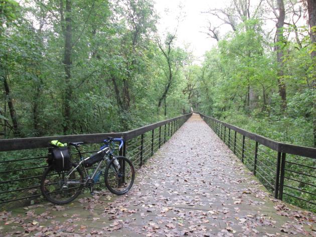 A boardwalk on the Alum Creek Trail northeast of Columbus, Ohio