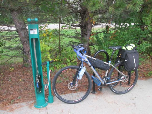 Bike repair station on the Genoa Trail in Genoa Township, Ohio