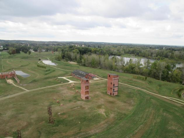 A view from the Rastin Obervation Tower in Mount Vernon, Ohio