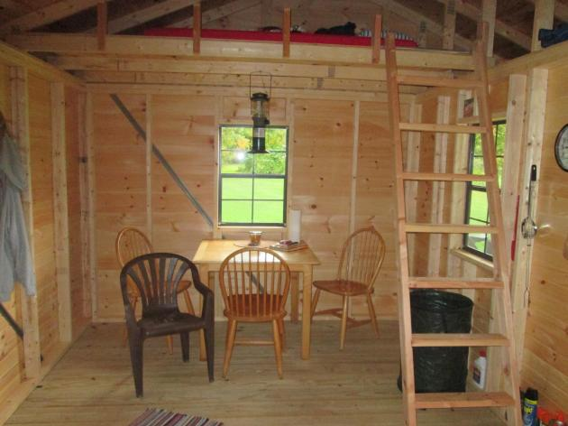 Main level view of the biker cabin on the Kokosing Gap Trail in Howard, Ohio