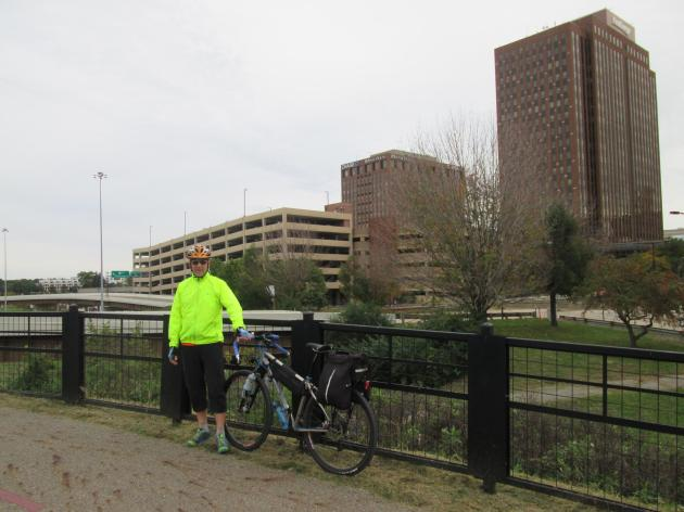 Downtown Akron, Ohio as seen from the Ohio & Erie Canal Towpath Trail