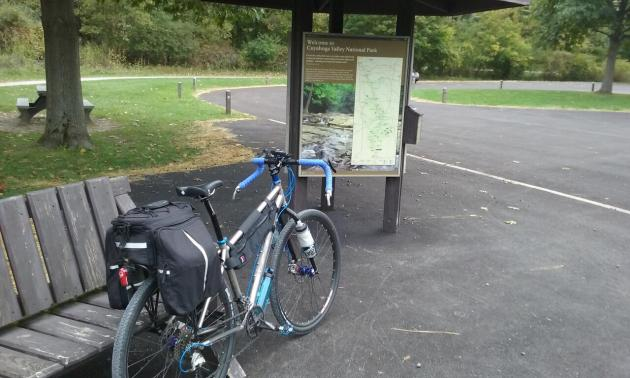 Botzum Trailhead on the Ohio & Erie Canal Towpath Trail in the Cuyahoga Valley National Park